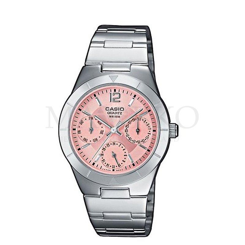 damski zegarek Casio z analogową tarczą